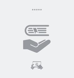 book - minimal icon vector image