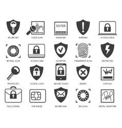 Business data security icons vector