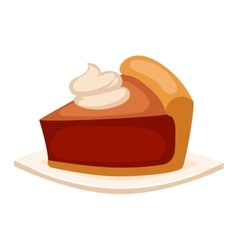 Cake isolated icon vector image