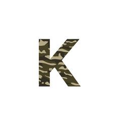 camouflage logo letter k vector image