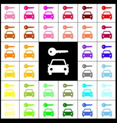Car key simplistic sign felt-pen 33 vector