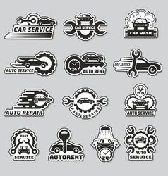 Car service logo silhouettes automobiles vector