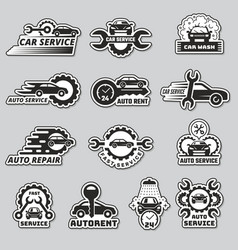 car service logo silhouettes automobiles vector image