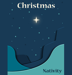 Christmas christian nativity scene vector