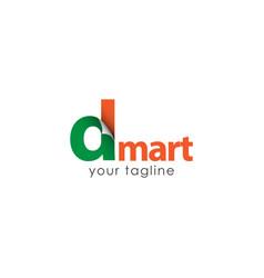 d mart logo template design vector image