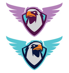 Eagle sport logotype for college team vector