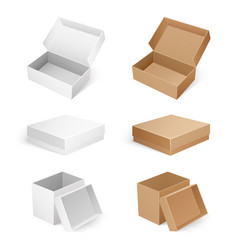 empty cosmetic medical or product boxes isolated vector image