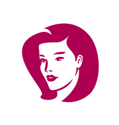 face woman logo beauty salon spa fashion symbol vector image