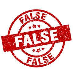 False round red grunge stamp vector