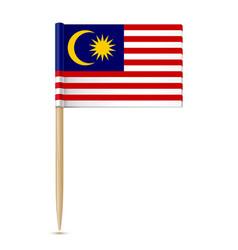 flag malaysia toothpick vector image