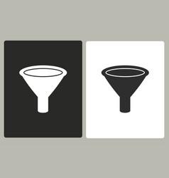 funnel - icon vector image
