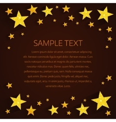 Golden stars background vector
