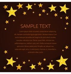 Golden stars background vector