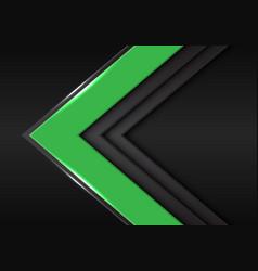 green grey arrow direction on dark blank space vector image