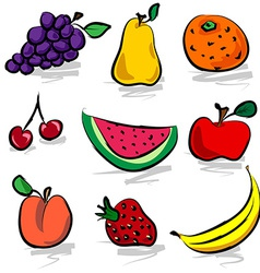Grungy fruits vector image vector image