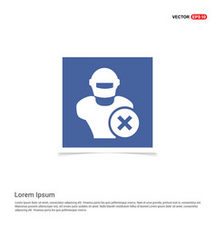 hacker icon - blue photo frame vector image