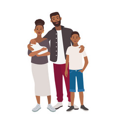 happy african american family father mother vector image