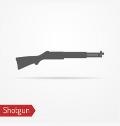 Hunter rifle silhouette icon vector