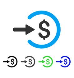 Income flat icon vector