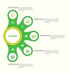 Infographic report template design element vector image