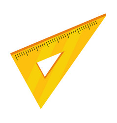 Isolated ruler school design vector