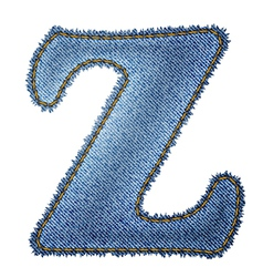 Jeans alphabet denim letter z vector