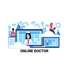 medical healthcare application online doctor vector image