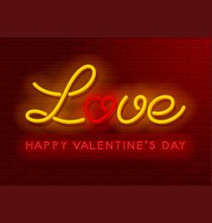 neon love design vector image