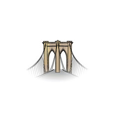 new-york city travel nyc icon american landmark vector image