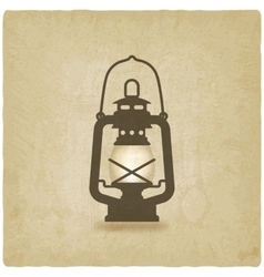 oil lantern old background vector image