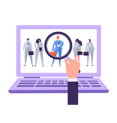 online recruitment management characters candidate vector image