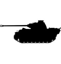 Panther german silhouette tank world war ii vector