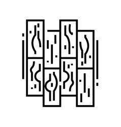parquet line icon concept sign outline vector image