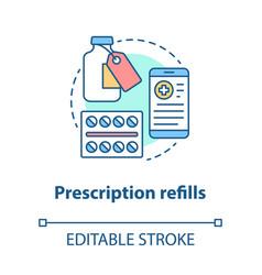 Prescription refills concept icon pharmacy idea vector