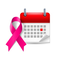 Purple awareness ribbon and calendar vector