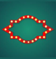 red light figure frame background vector image