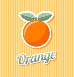 retro orange vector image