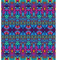 Seamless folk ethnic tribal pattern vector