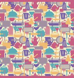 seamless pattern kitchen background vector image