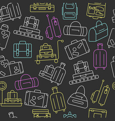 seamless pattern with luggage vector image