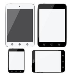 set modern digital devices smartphones tablets vector image