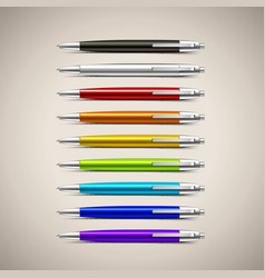 Set of Colorful Pens vector image