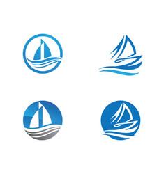 ship logo template icon design vector image