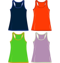 Sleeveless Tops and Tank Tops vector image