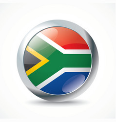 South Africa flag button vector