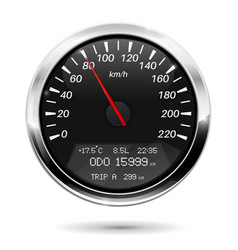 Speedometer kilometers per hour vector