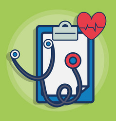 sthetoscope and medical related icons vector image