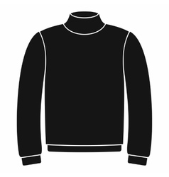Sweater icon in simple style vector