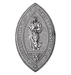The seal of the bishop of salisbury vintage vector