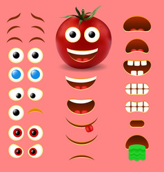 tomato male emoji creator design collection vector image